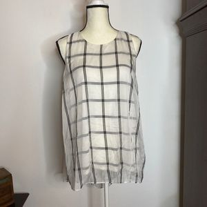 Vince Camuto High Low Grid Tank Top